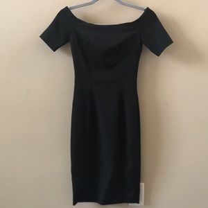 H&M black off the shoulder fitted sexy dress size2
